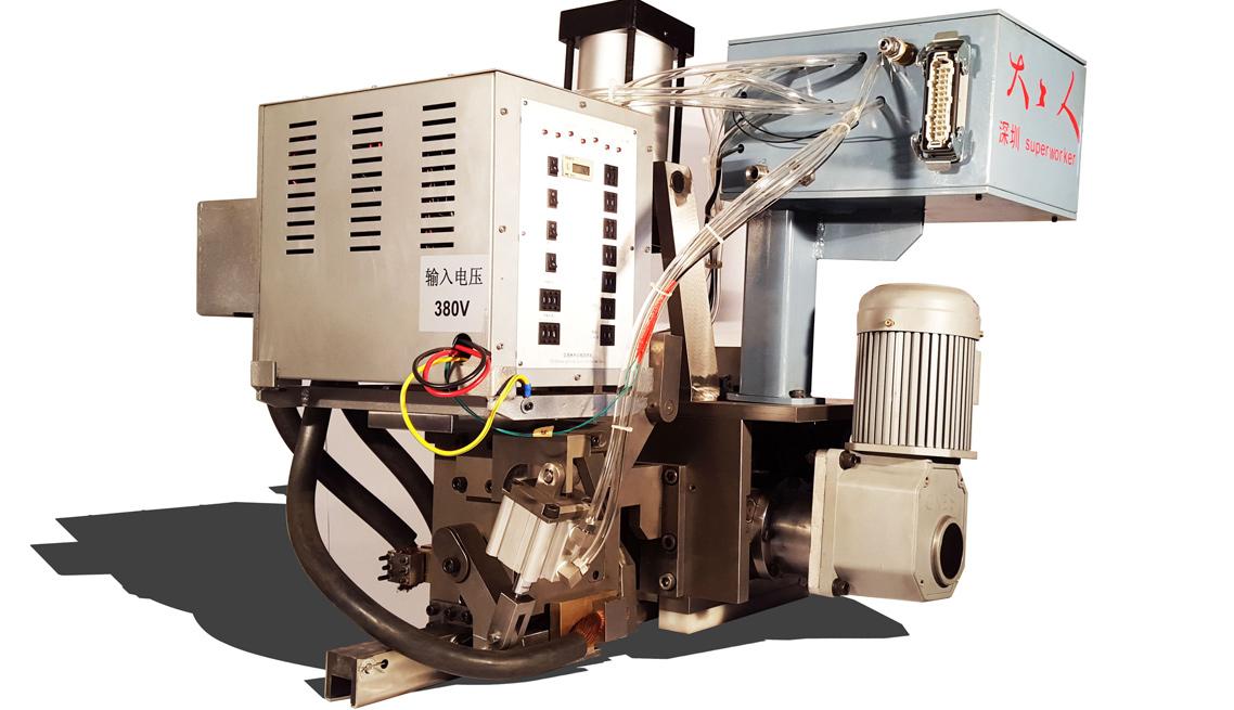 大工人电阻焊式全自动钢带打包机机头展示