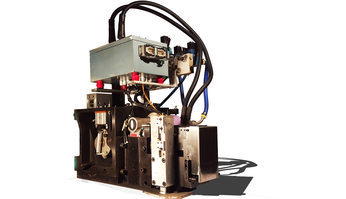 大工人氩弧焊式全自动钢带打包机机头展示