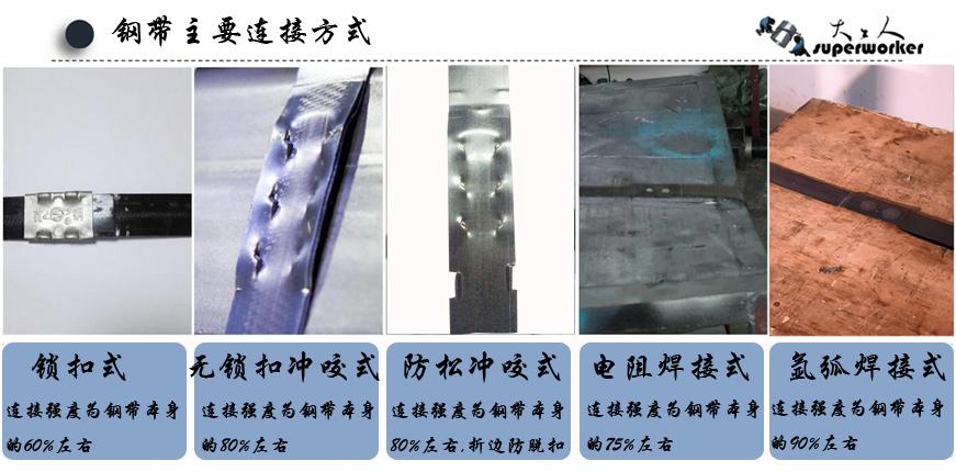 五种钢带连接方式